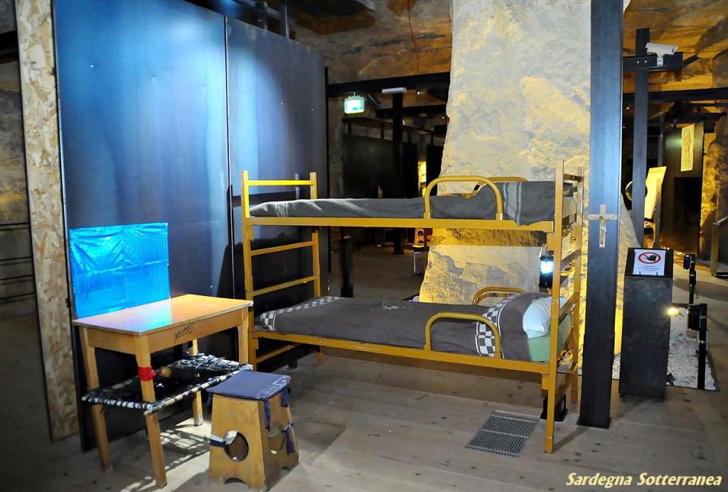 Una installazione nel cuore delle grotte.