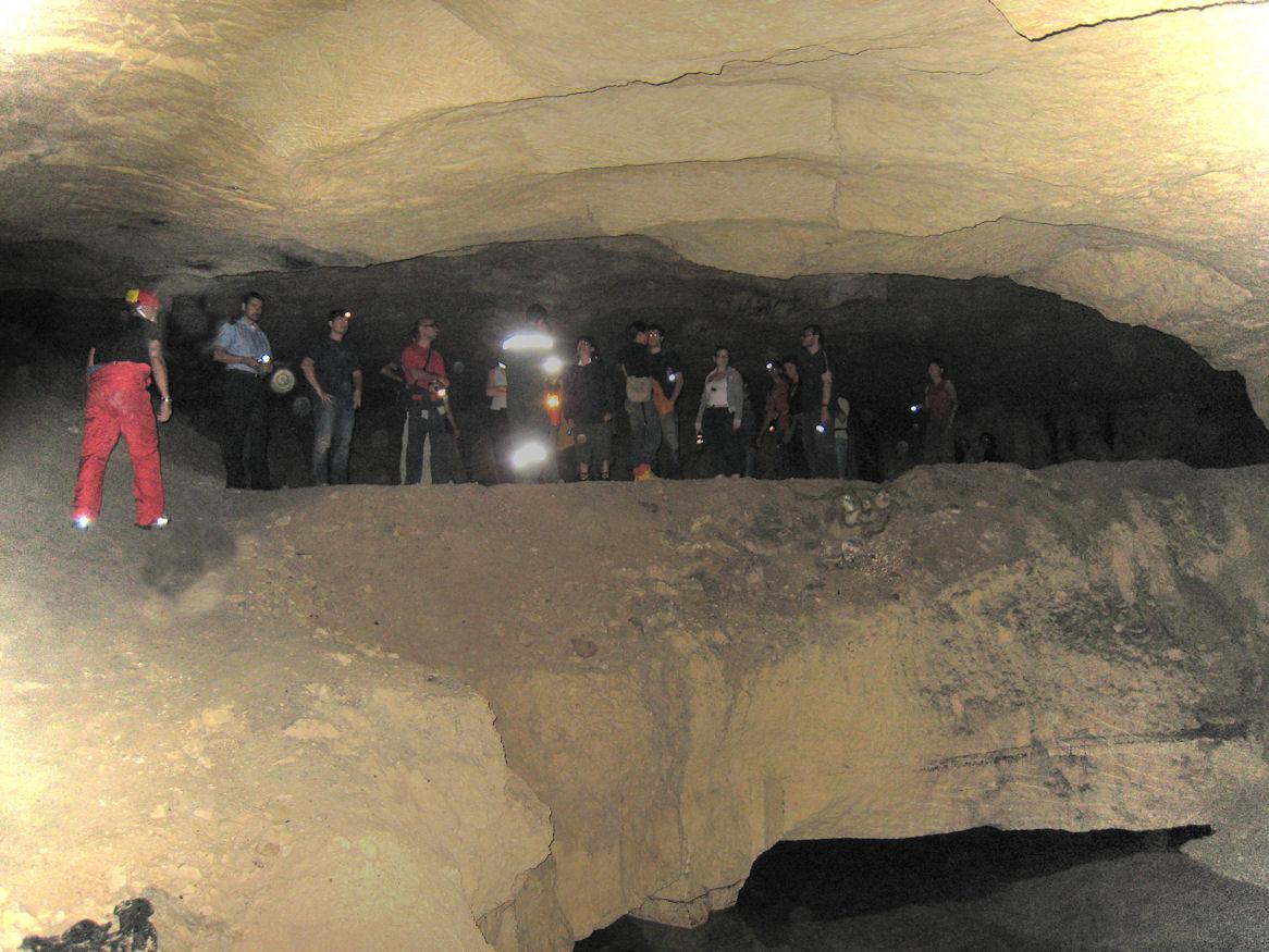 La caverna della frana, sotto piazza d'Armi.
