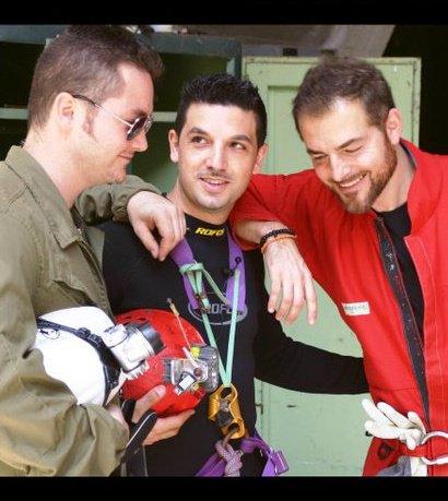 Fabrizio Raccis (da sin), Marcello Polastri e Daniele Bossari a destra.