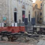 Il sotterraneo scoperto nel 2013 in Piazza Palazzo