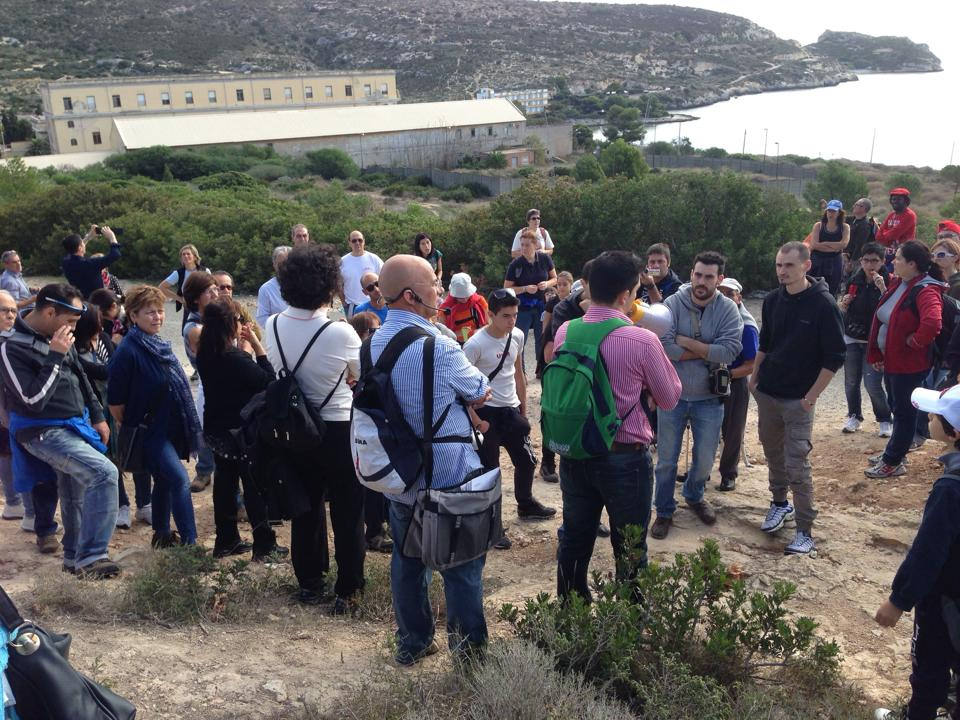 il gruppo riunitosi Domenica mattina a Sant'Elia