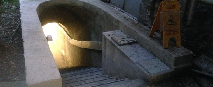 Sotto l'ospedale, una vecchia galleria