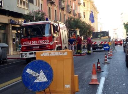 A Cagliari una spaventosa voragine