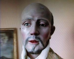 Statua recuperata nelle cripte