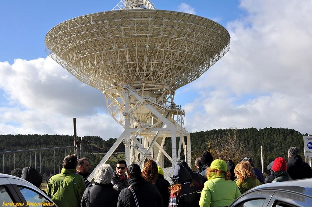 Il radiotelescopio di San Basilio in Sardegna