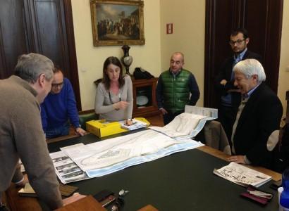 Lavori a ritmo serrato in viale Buoncammino a Cagliari