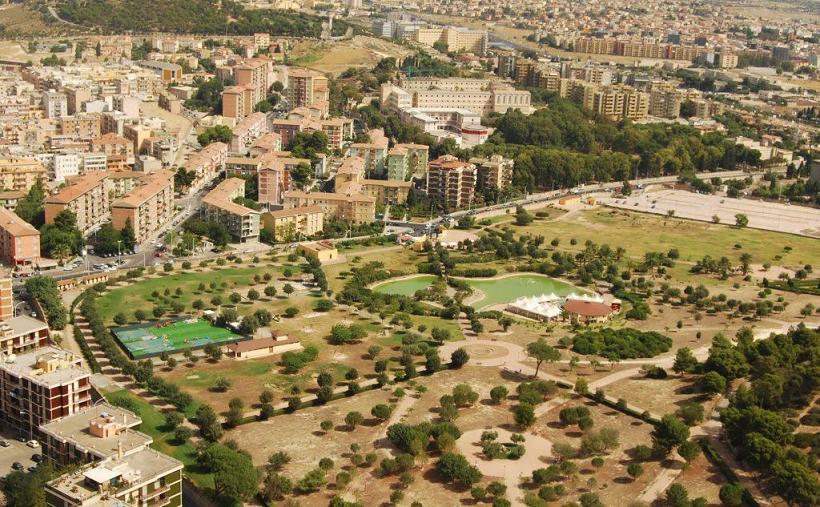 La grande area del Parco di Monte Claro.