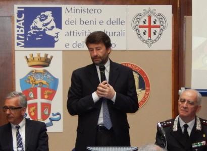 Van Gogh e il ministro Franceschini inaugurano a Cagliari nuova sede carabinieri