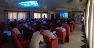 La sala al momento della conferenza.