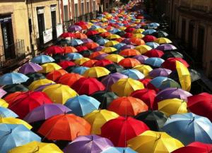 Agueda e i suoi ombrelli portoghesi.