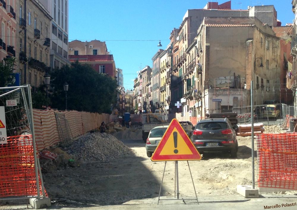 L'area degli scavi due mesi fa