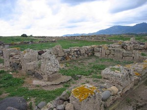 Rovine dell'antica città di Nora.