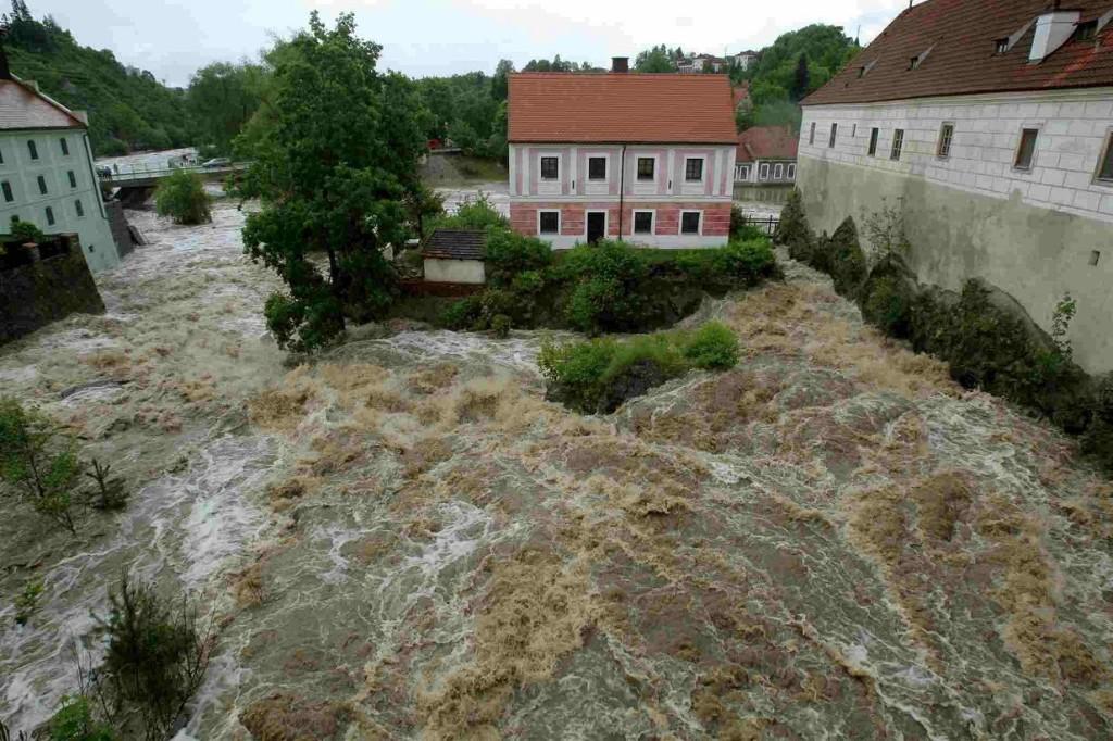 Una recente alluvione nell'Europa centrale