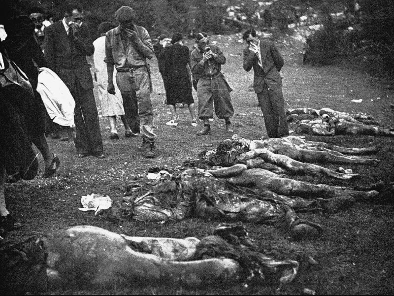 Corpi recuperati dalla foiba di Vines
