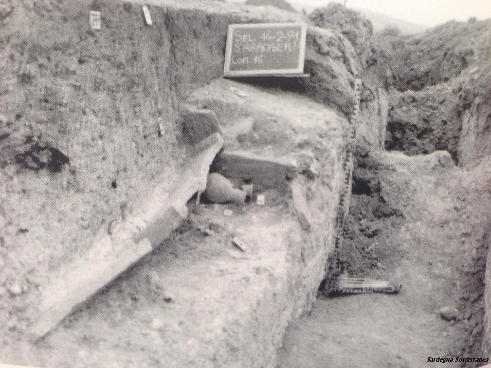 Antica sepoltura romana a Selargius.