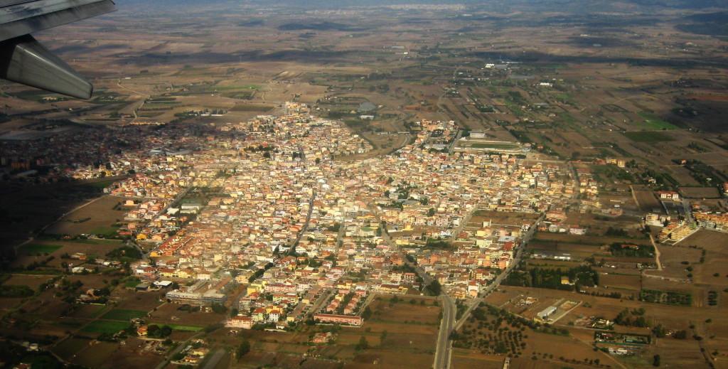 Foto aerea della Sardegna.