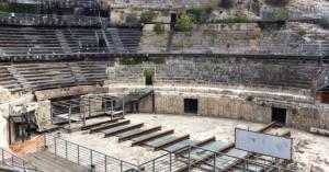 Cagliari. L'arena dell'anfiteatro.