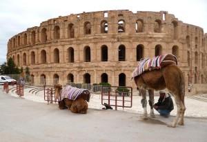 Anfiteatro romano di El Jam in Tunisia.