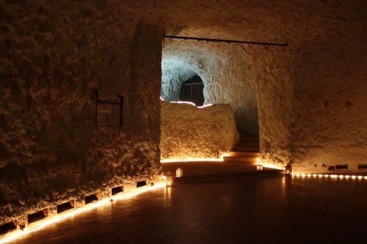 La sala da ballo di grotta Marcello a Cagliari