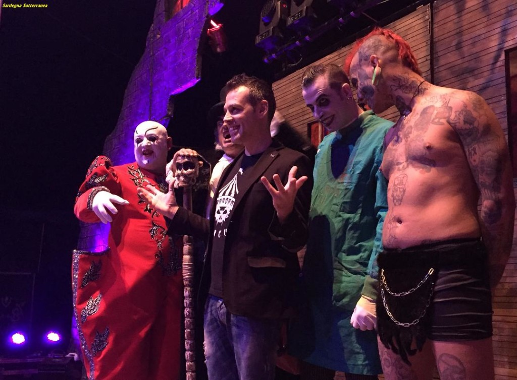 Alcuni artisti del Circo horror