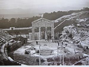 Cagliari e il suo anfiteatro usato per gli spettacoli.