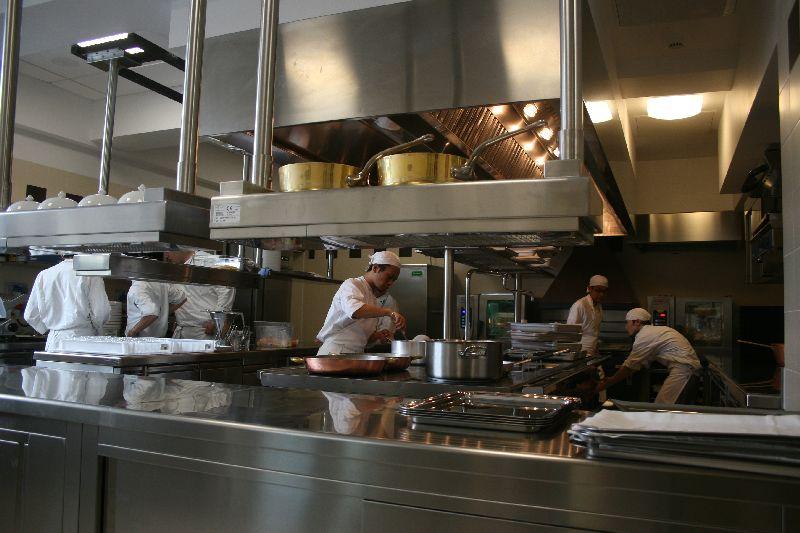 In cucina.