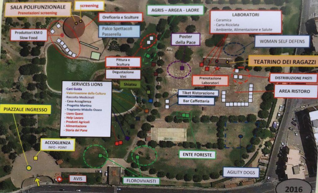La mappa della manifestazione