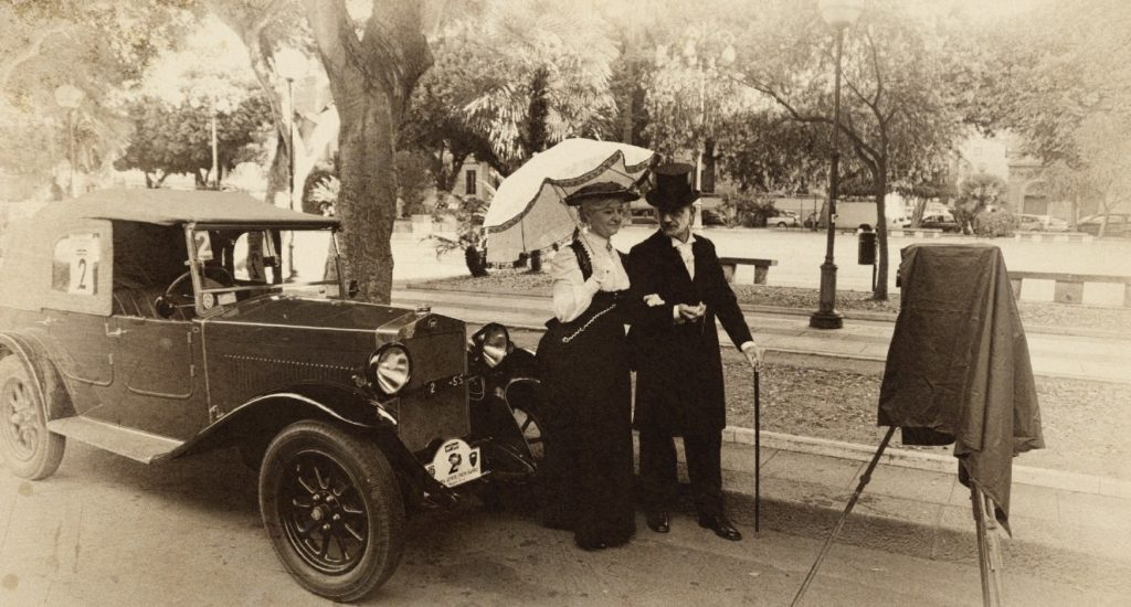 Auto d'epoca a Cagliari