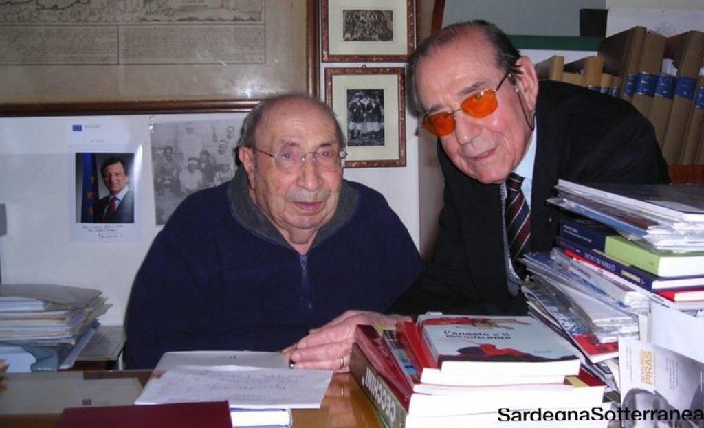 Ugo Carcassi con Giovanni Lilliu