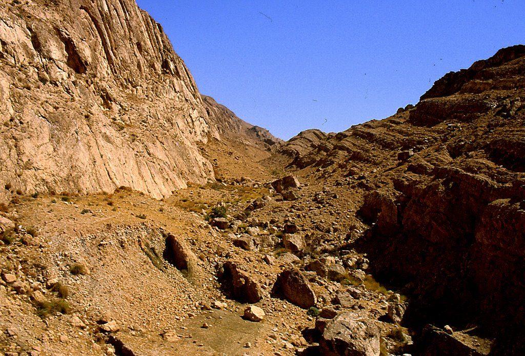 La zona desertica di Petra