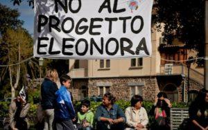 Protesta per il progetto Eleonora.