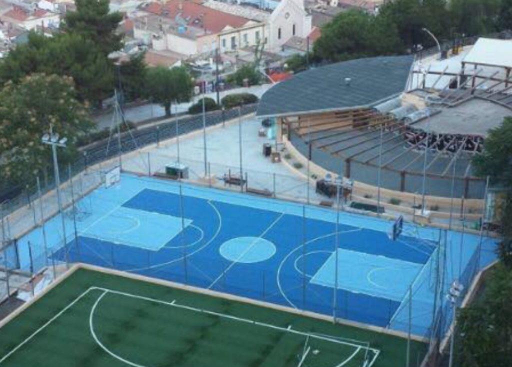 Gli impianti sportivi nuovi di zecca visti dal Castello