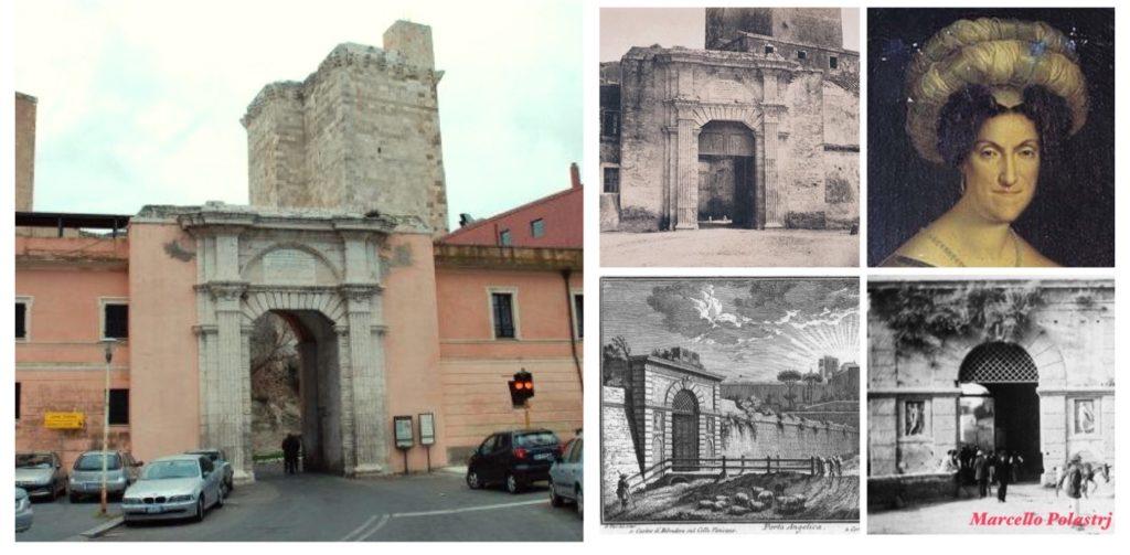 Porta Cristina con i raffronti storici con la Porta Angelica di Roma