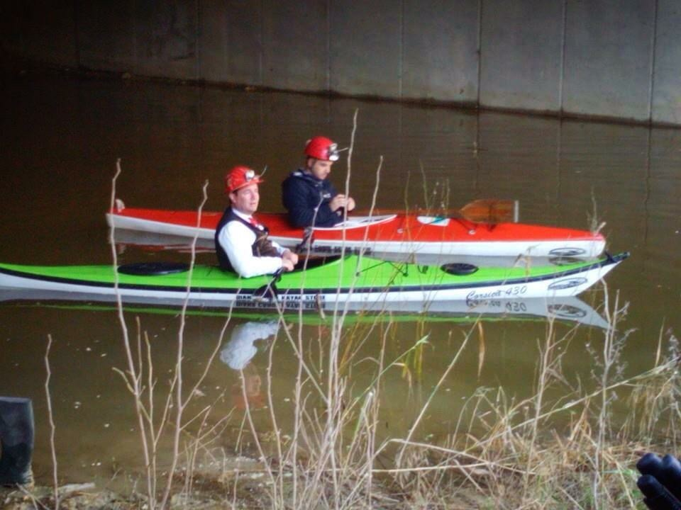 Cristian Cocco e Marcello Polastri in canoa