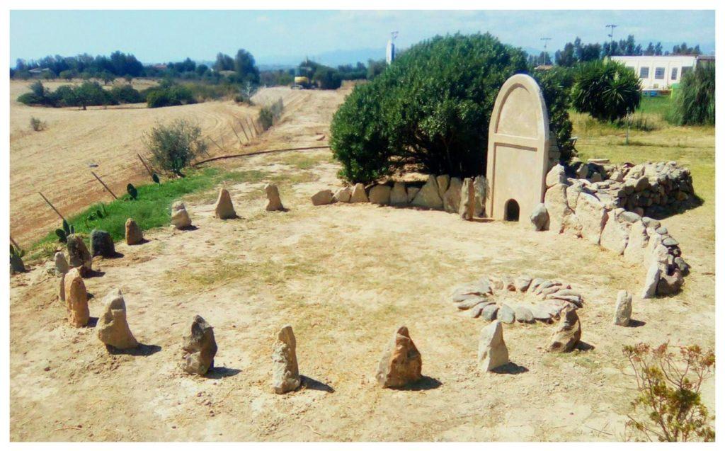 La tomba di giganti riprodotta
