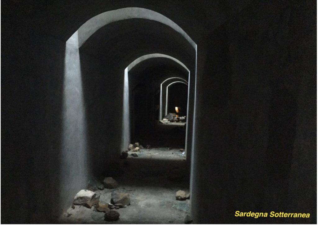 Nei sotterranei della batteria di Is Mortorius