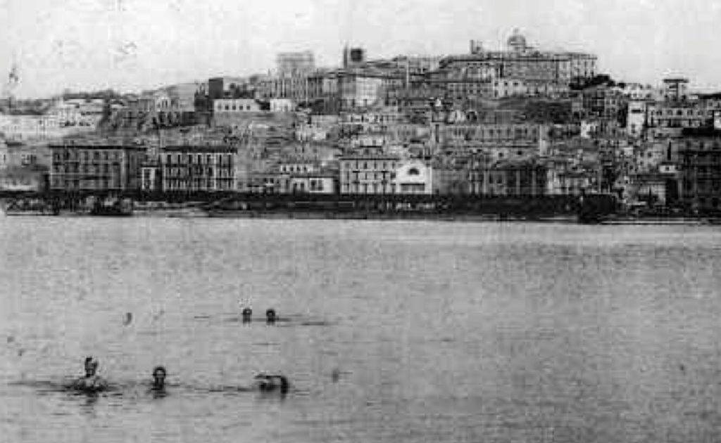Il porto di Cagliari nel primo Novecento.