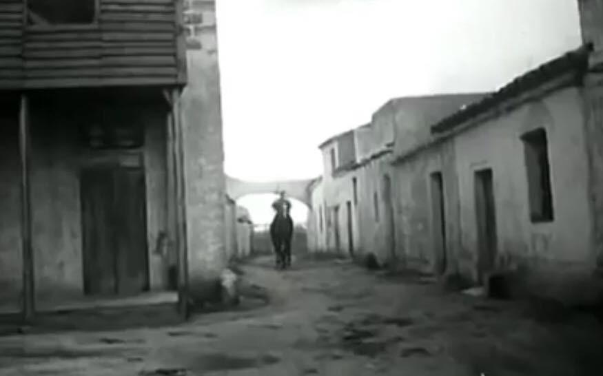 San Salvatore nel 1960 durante le riprese per un film western.