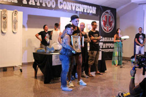 Milly alla tattoo convention di Cagliari
