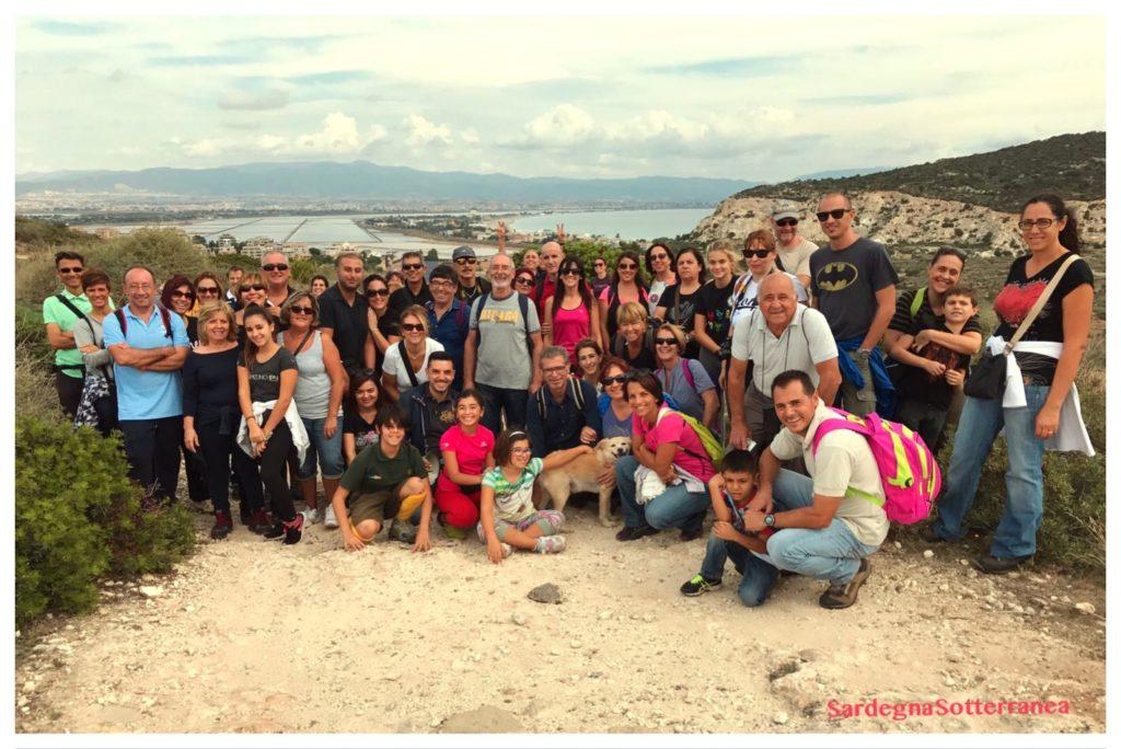 Foto di gruppo scattata il giorno della scoperta