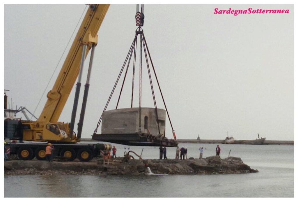 Il fortino militare nel porto di Cagliari