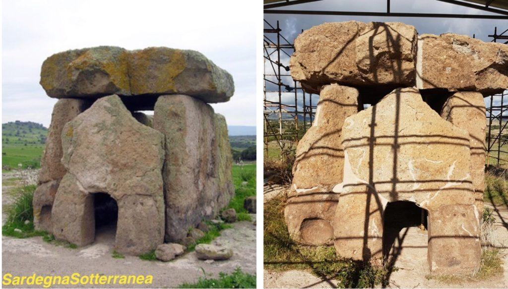 Il dolmen Sa Coveccada a Mores.