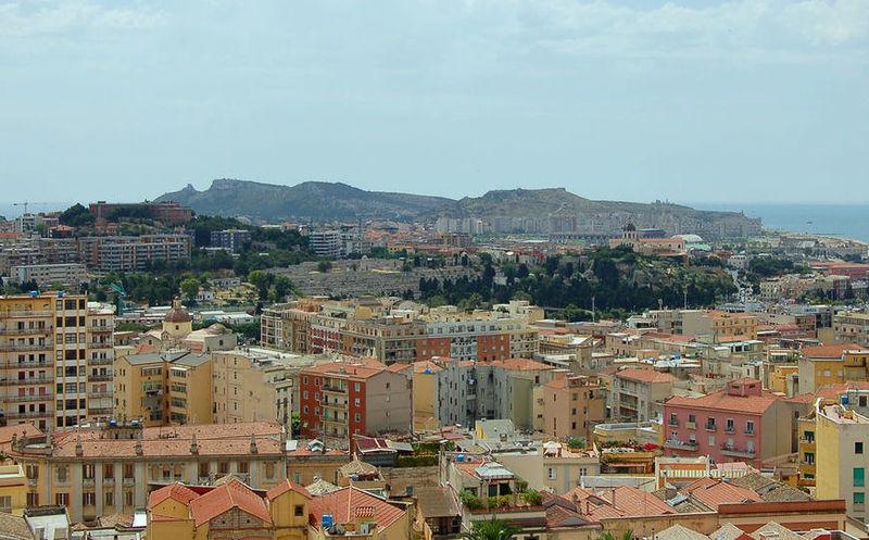 Cagliari, scorcio della città.