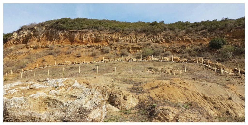 La cava di fossili di Genoni, in Sardegna.