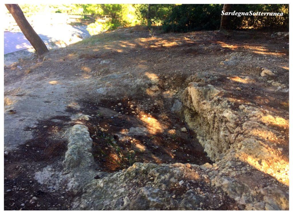 La tomba antica a monte Claro.