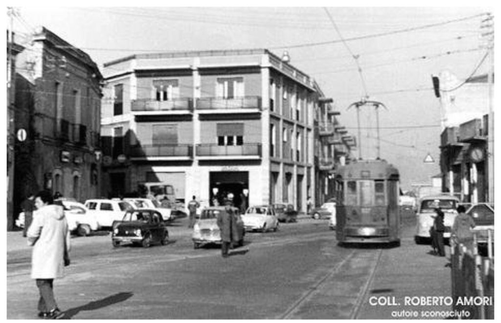 Piazza Italia a Pirri nel 1960.