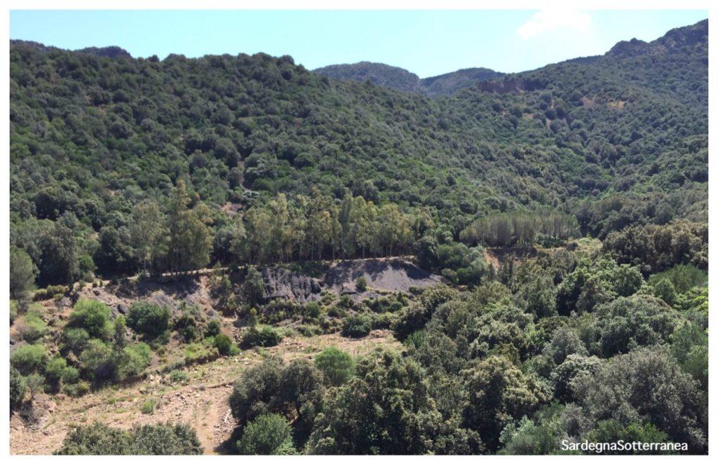 La valle della miniera San Leone.