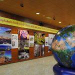 OMPHALOS, la mostra all'aeroporto di Elmas.
