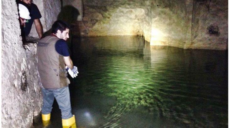 Uno dei laghetti della Cagliari sotterranea. Foto di Marcello Polastri.