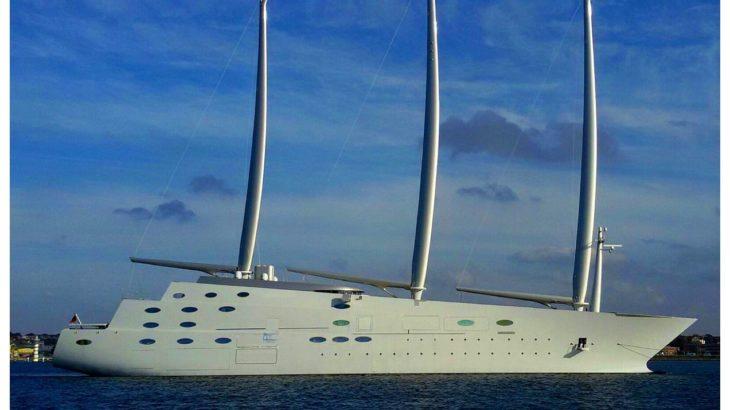 La Sardegna stregata dal passaggio del Sailing Yacht A, il veliero più grande del mondo, costato 400 milioni di euro.